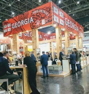 The Georgian stand at ProWein